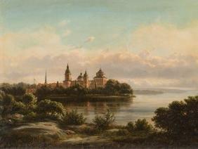 Ferdinand Richardt, Castle Gripsholm, Oil Painting,