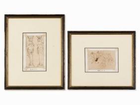 Palma il Giovane (c.1548-1628) Attr., Pair of Studies,