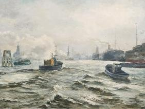 Seascape, Oil Painting, Early 20th C.