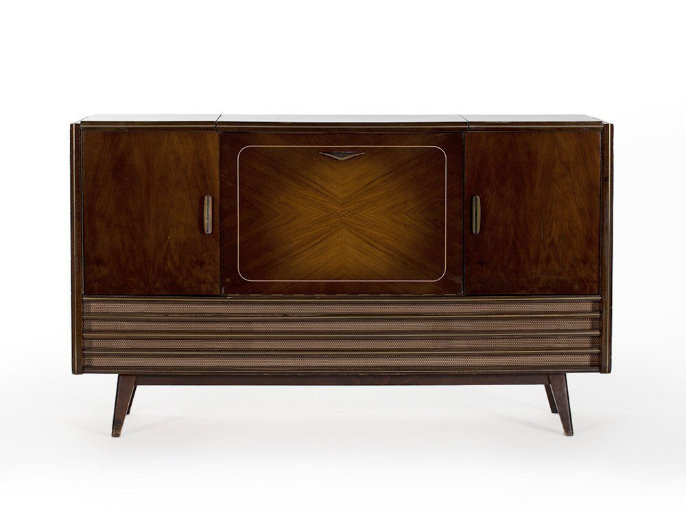 Loewe Music Cabinet with Radio and Dual Record Player,