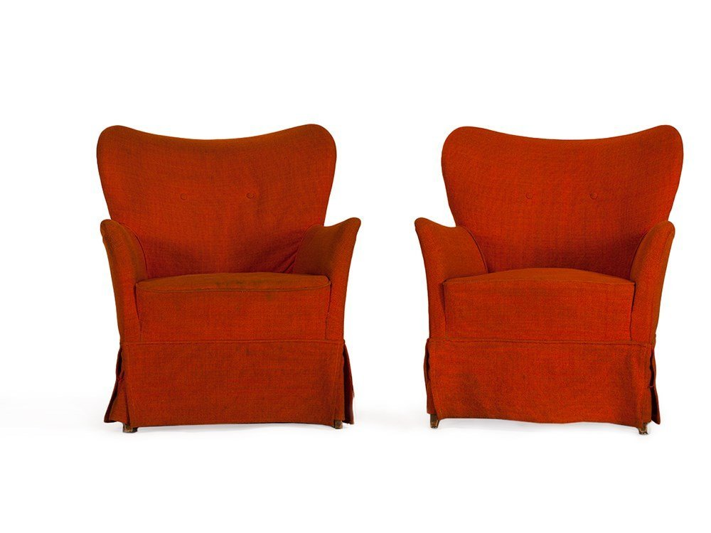 Pair of Armchairs from the Lounge of the Hotel Bogota,