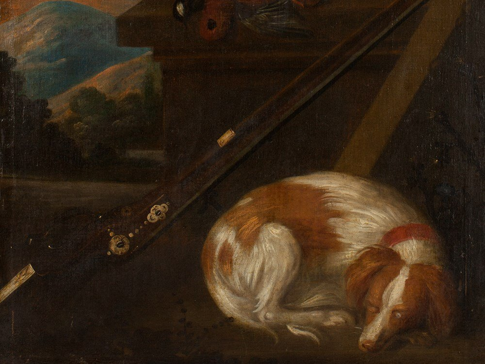 Painting 'Hunting Still Life with Sleeping Dog'