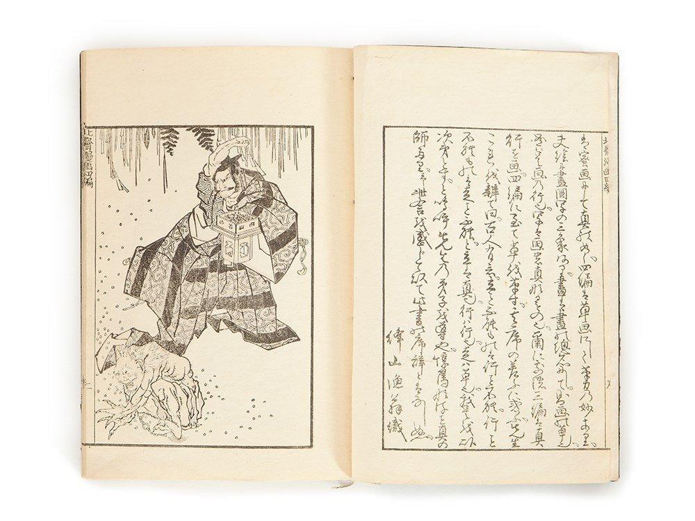 Katsushika Hokusai Semiotics Book with 29 Pages, Japan,