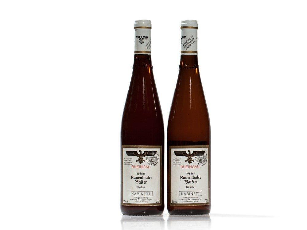 2 bottles 1988 Staatsweingüter Eltville Riesling
