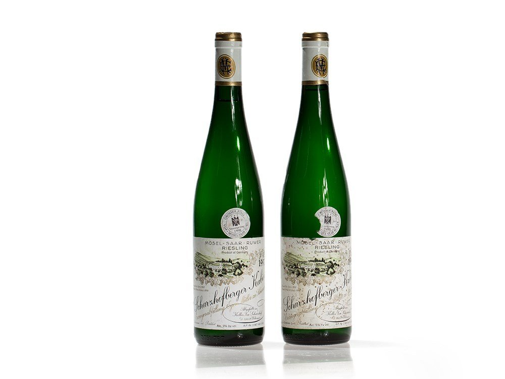 2 bottles 1997 Egon Müller Scharzhofberger Kabinett