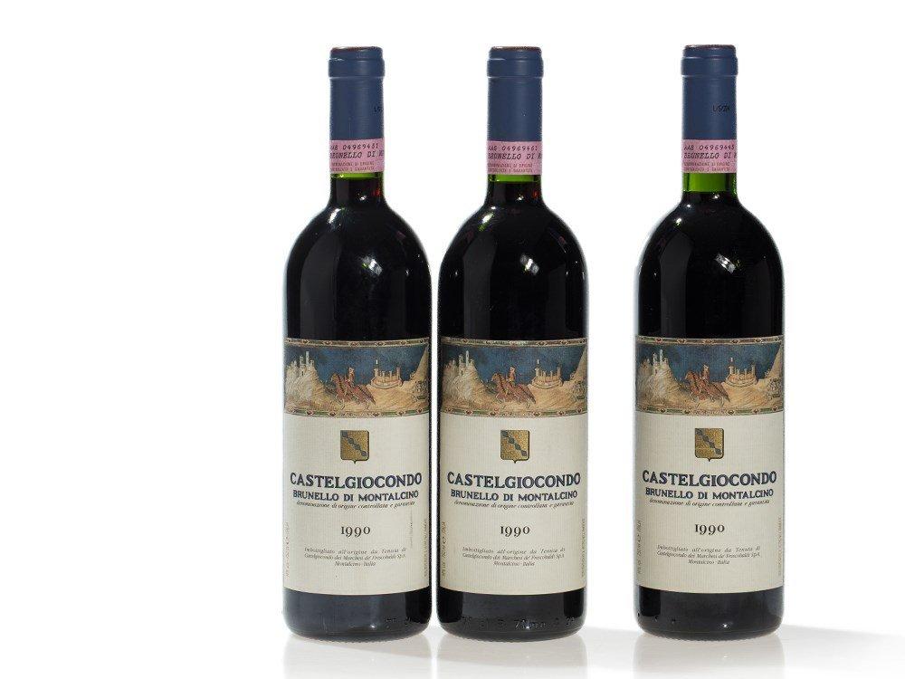 3 bottles 1990 Castelgiocondo Brunello di Montalcino,