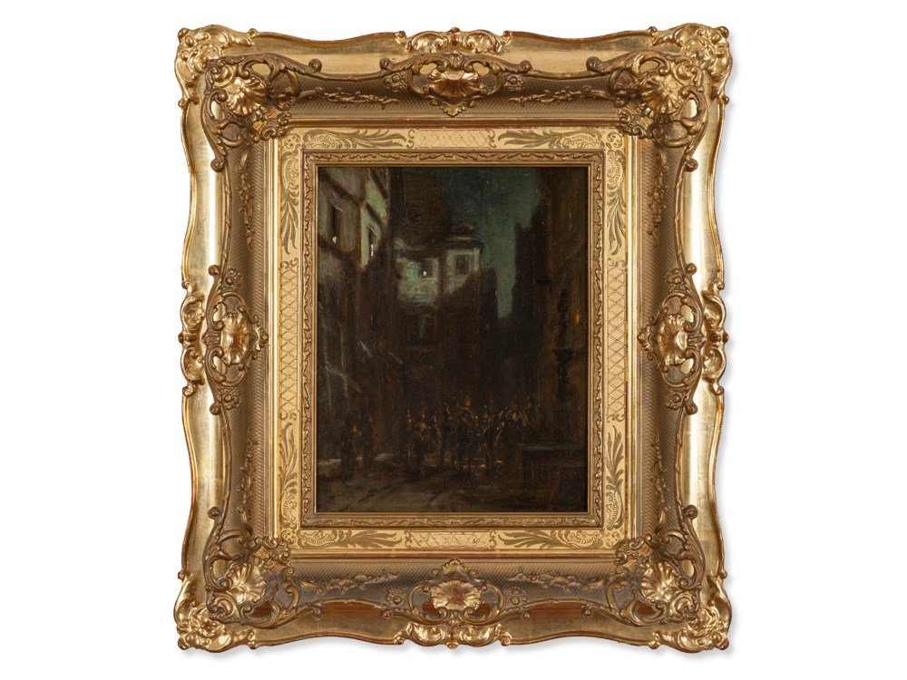 Carl Spitzweg (1808-1885), Oil Painting 'Serenade',