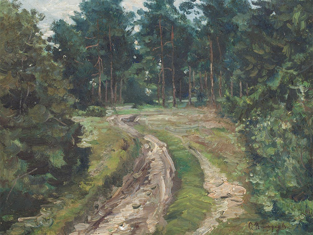 Sergei A. Vinogradov (1869-1938), Forest Path, around
