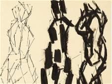 Josef Pillhofer (1921-2010), Indian ink Drawing, Nudes,