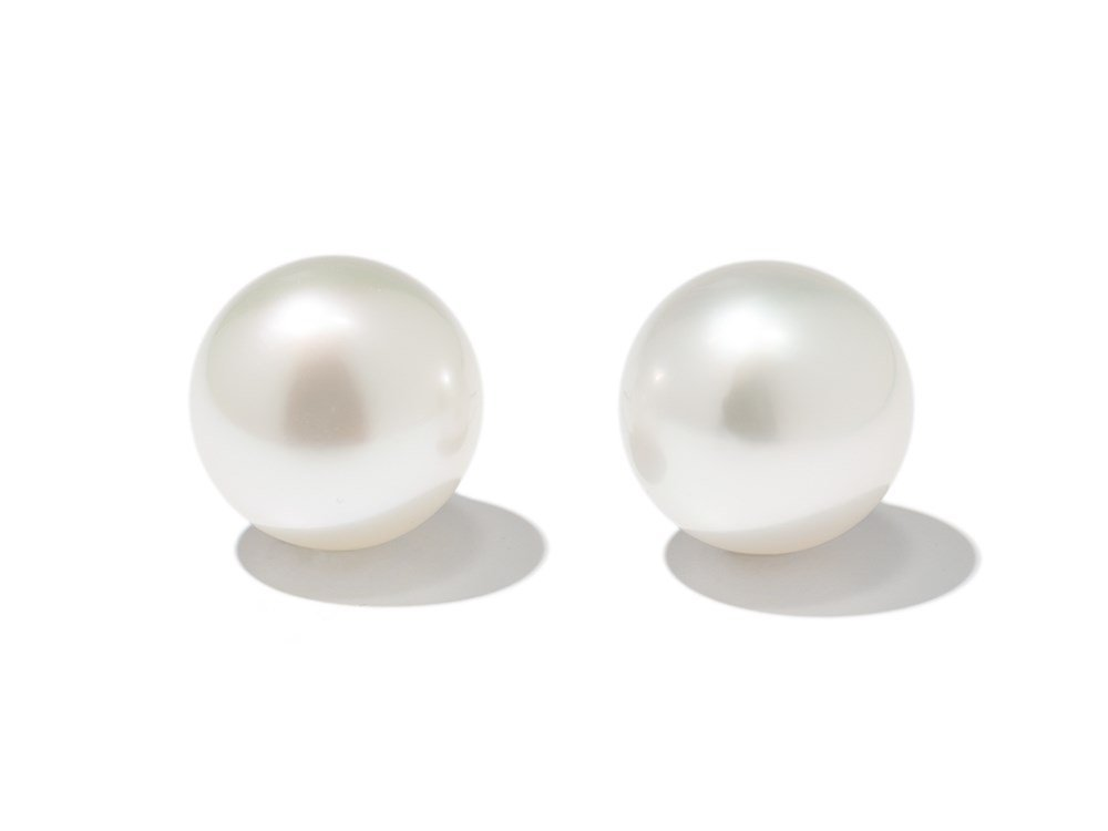 South Sea Cultured Pearl Stud Earrings, 20th Century