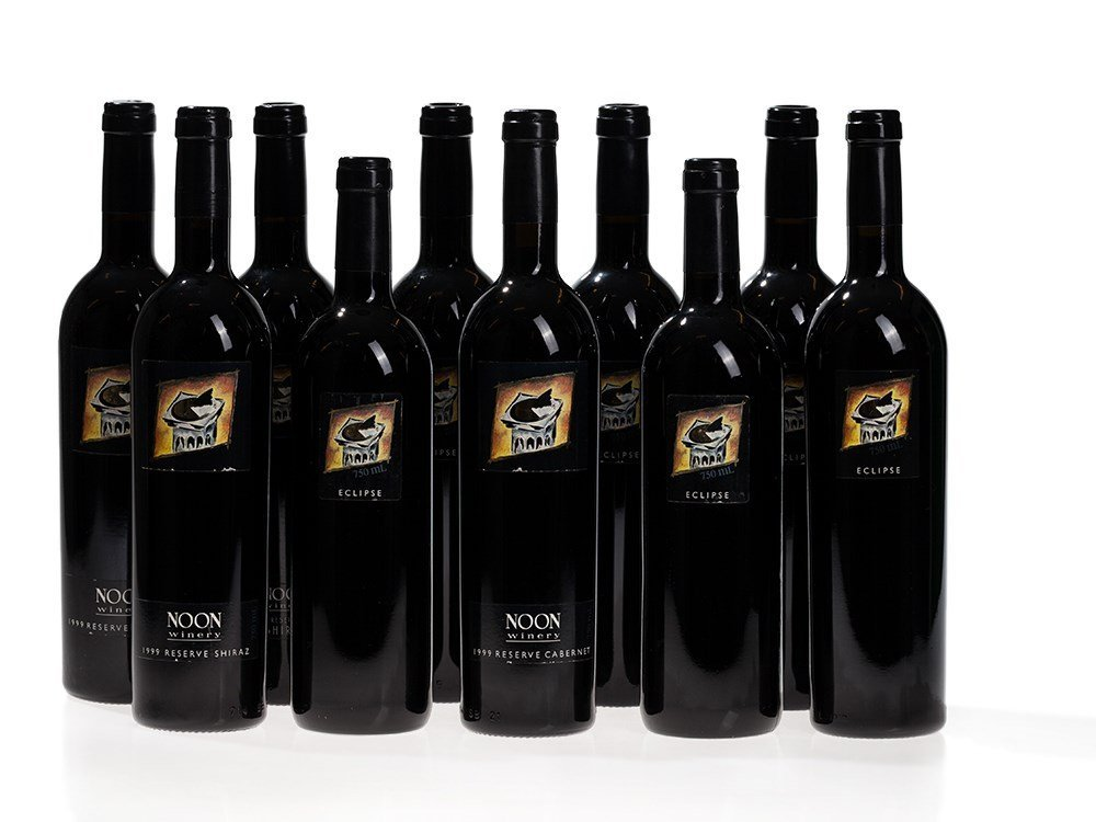 10 bottles Noon Eclipse and Reserve from 1998, 1999 and