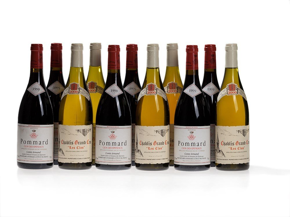 11 bottles of red and white wine from Burgundy,