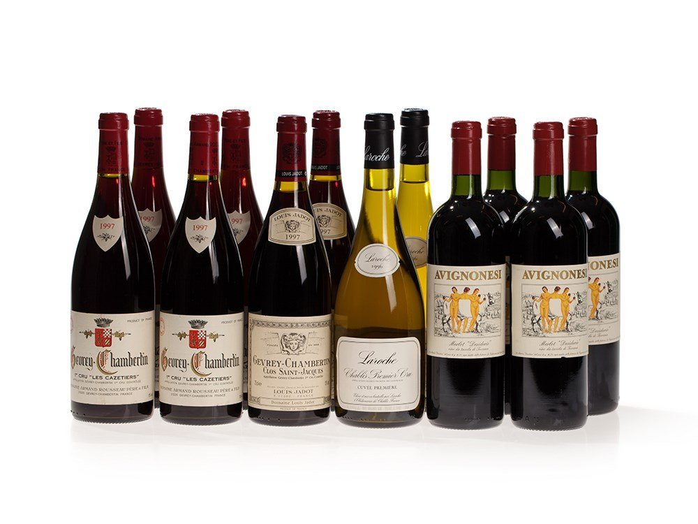 8 bottles of red and white Burgundy from 1996 and 1997