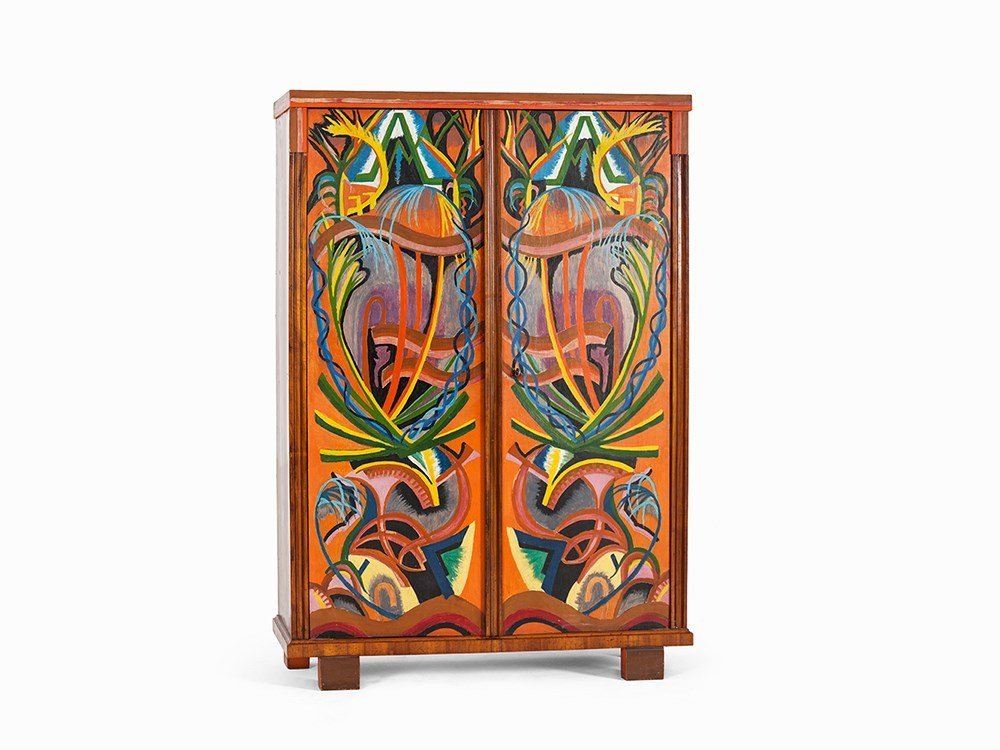 Armoire with Extraordinary Painting, Austria, 1920