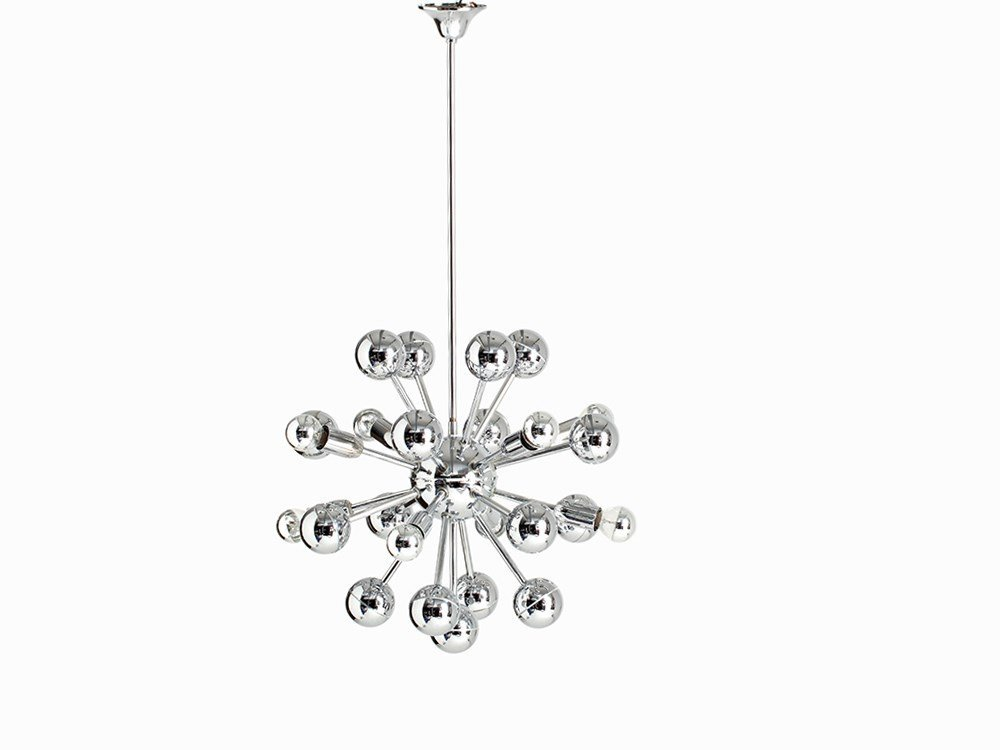 Sputnik Pendant Lamp with Chromed Globes, Germany,
