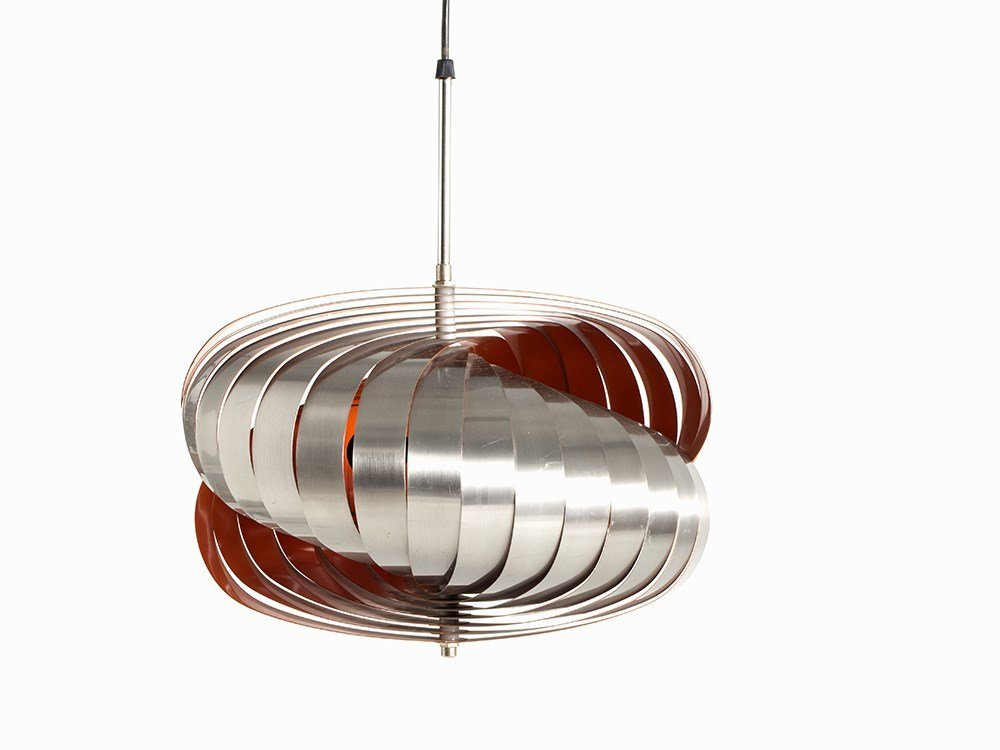 Pendant Lamp in Style of Verner Panton's Moon Lamp,