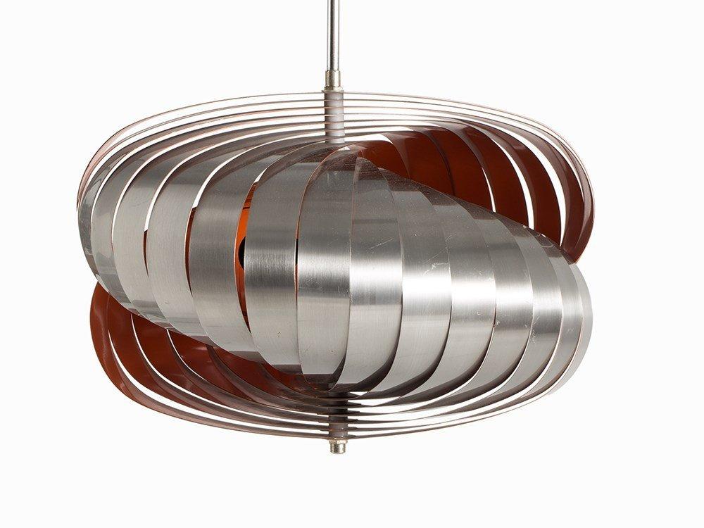 Pendant Lamp in Style of Verner Panton's Moon Lamp, - 2