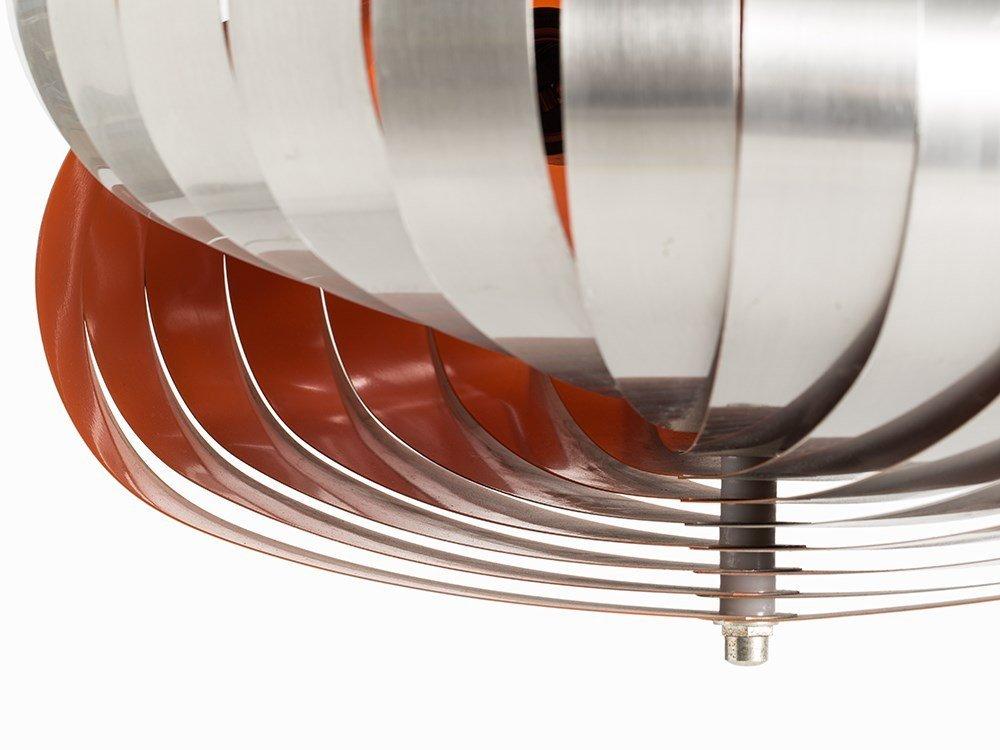 Pendant Lamp in Style of Verner Panton's Moon Lamp, - 3