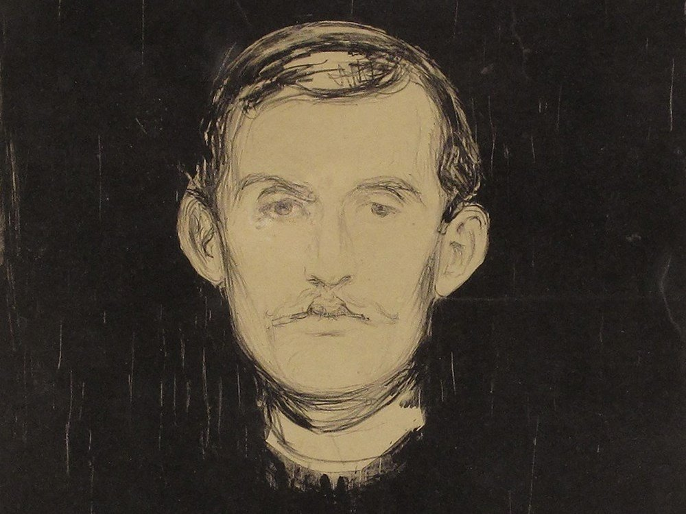 Edvard Munch, Lithograph with Self-Portrait, Berlin, - 2