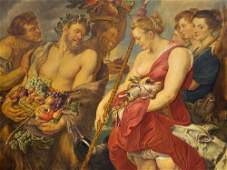 Peter Paul Rubens, after, Diana Returning from Hunt,
