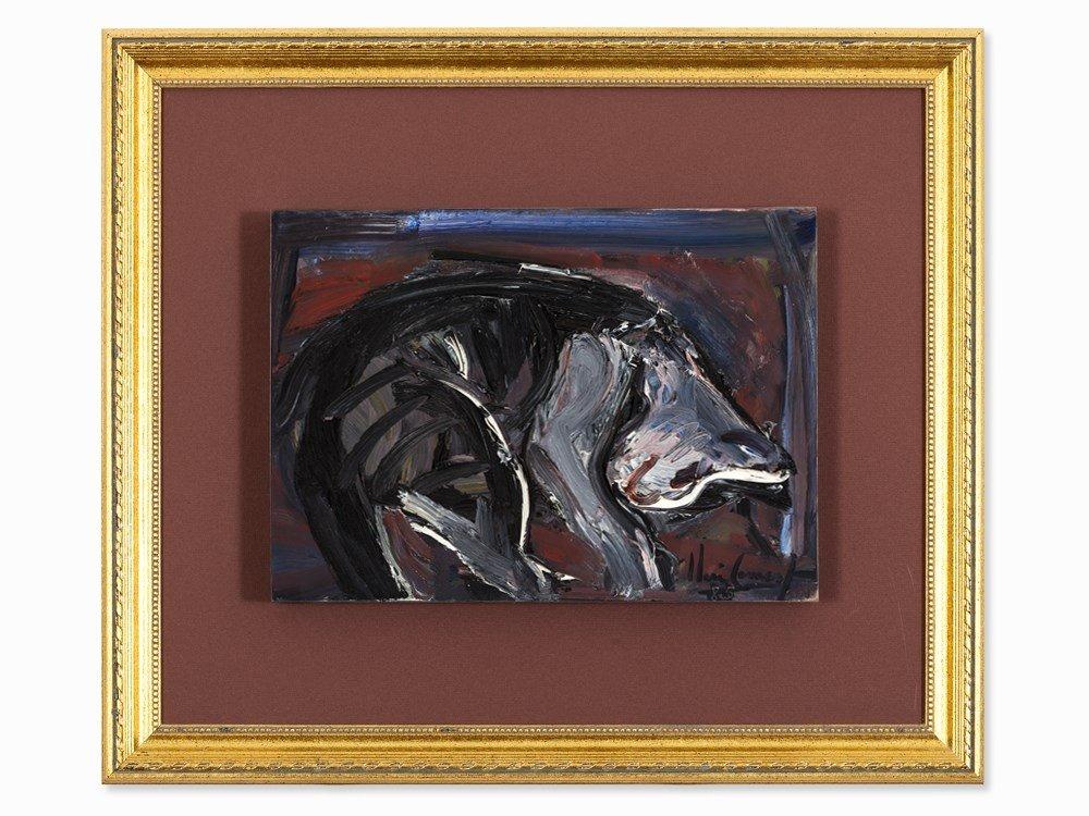 "Iberê Camargo (1914-1994), Oil Painting, ""Gato"", 1985"