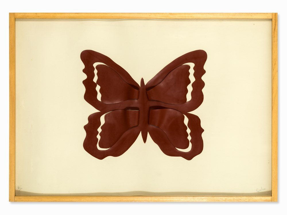 Mario Ceroli (b. 1938), Sculpture Multiple, Farfalla,