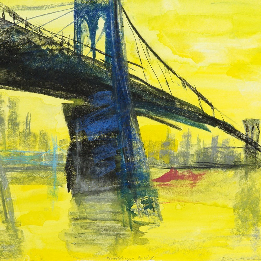 "Rainer Fetting (b. 1949), Mixed Media, ""Brooklyn - 10"