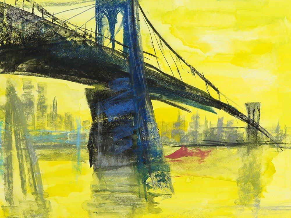 "Rainer Fetting (b. 1949), Mixed Media, ""Brooklyn"