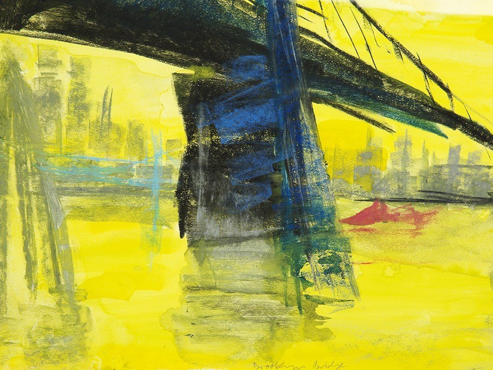"Rainer Fetting (b. 1949), Mixed Media, ""Brooklyn - 5"