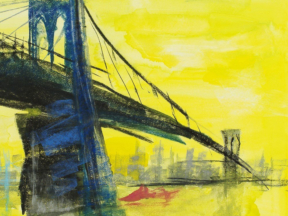 "Rainer Fetting (b. 1949), Mixed Media, ""Brooklyn - 7"