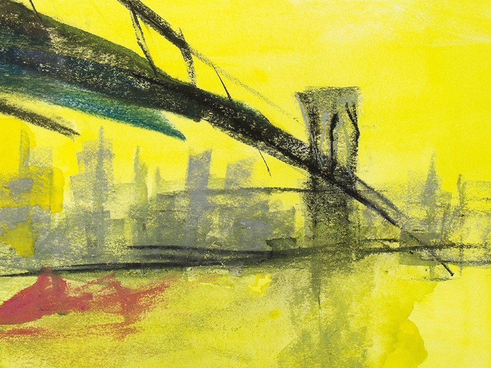 "Rainer Fetting (b. 1949), Mixed Media, ""Brooklyn - 8"