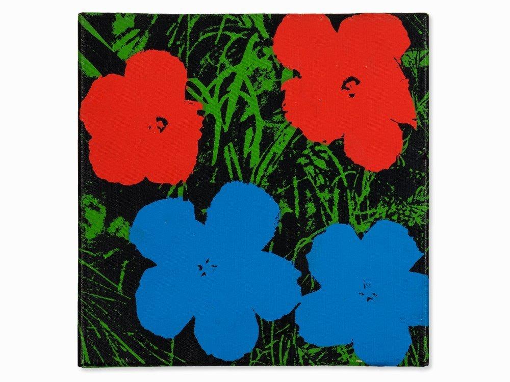 Andy Warhol (1928-1987), Silkscreen on canvas,