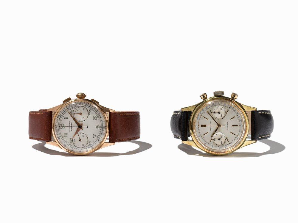 Breitling, 2 Chronographs, Switzerland, 1950-1960
