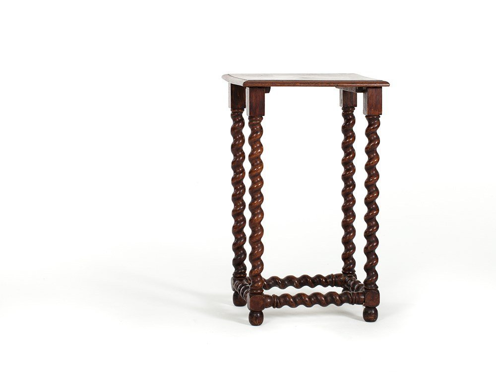 Baroque Style Side Table with Turned Legs, around 1900