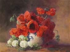 Max Th. Streckenbach, Still Life Poppies & Guelder