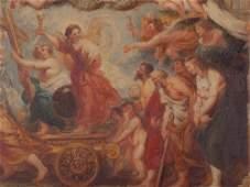 After Rubens, Allegorical Oil Sketch 'Fides Catholica',