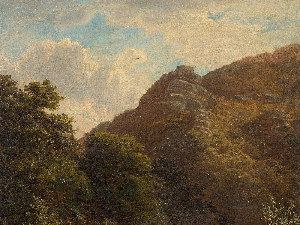 John Barrett, Oil Painting, Rocky Landscape with River, - 5