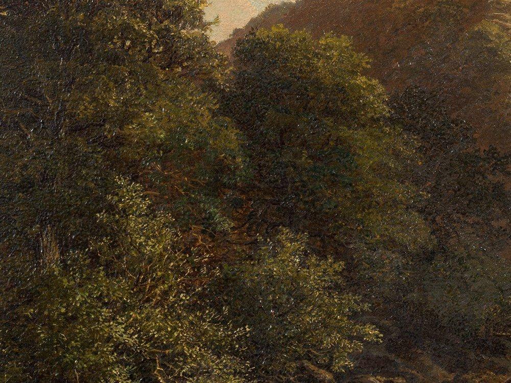 John Barrett, Oil Painting, Rocky Landscape with River, - 6