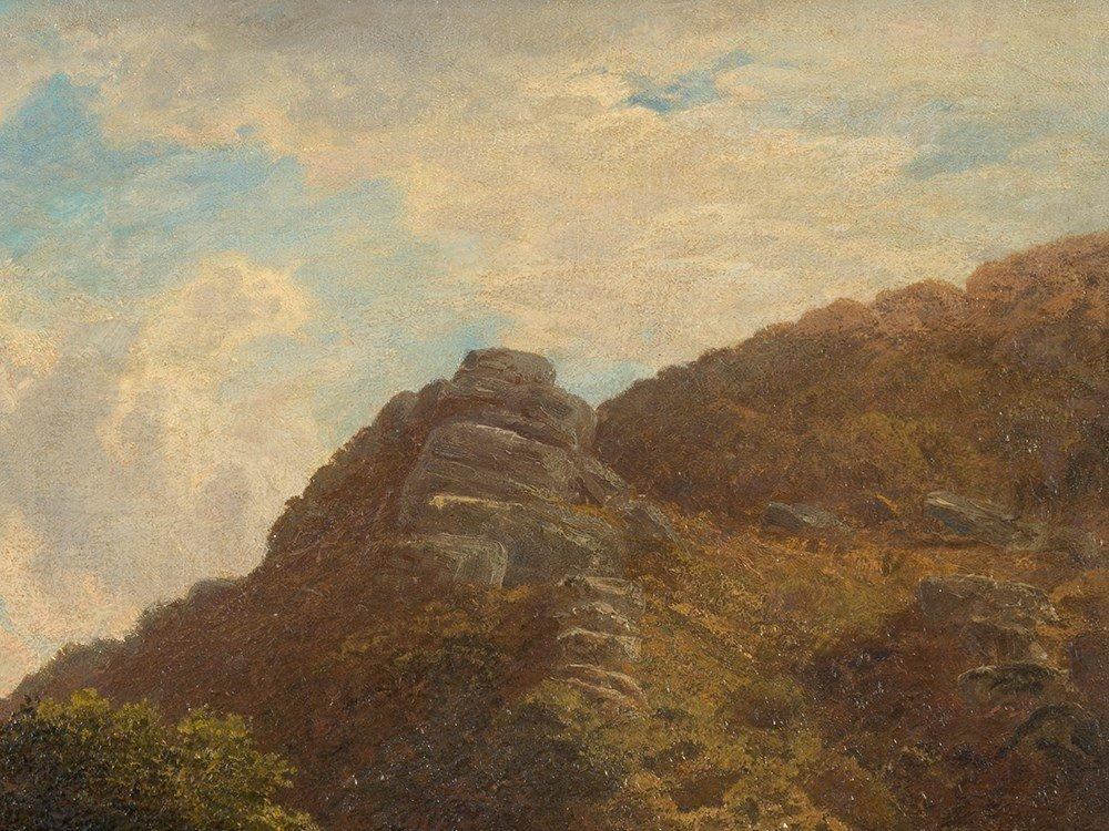 John Barrett, Oil Painting, Rocky Landscape with River, - 7