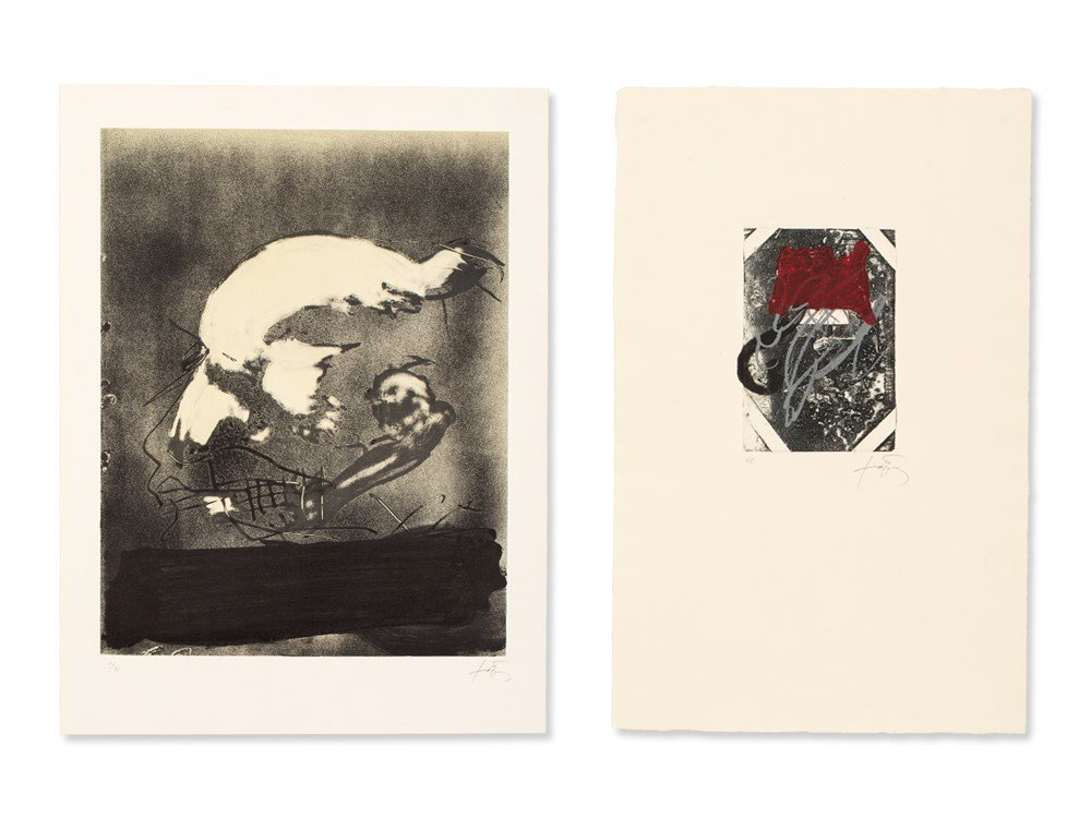 Antoni Tàpies (1923-2012), 2 Prints, Profile & Path,