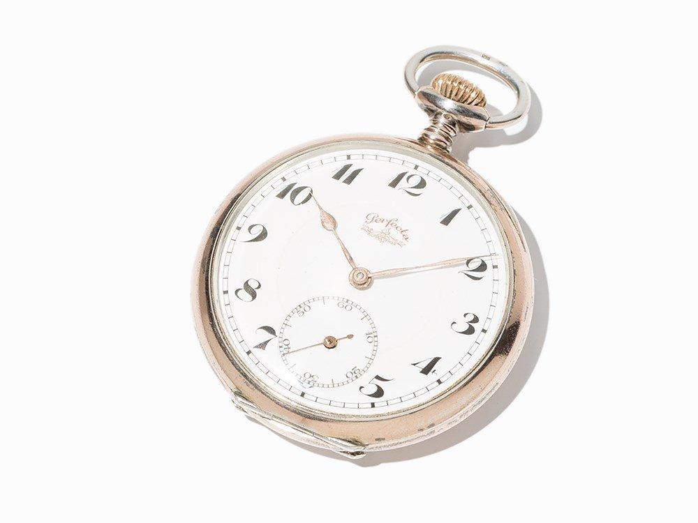 Perfecta Silver Pocket Watch, Switzerland, Around 1900