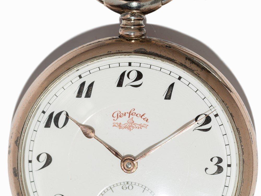 Perfecta Silver Pocket Watch, Switzerland, Around 1900 - 2