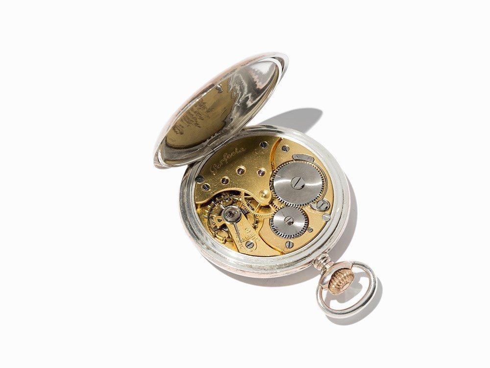 Perfecta Silver Pocket Watch, Switzerland, Around 1900 - 3