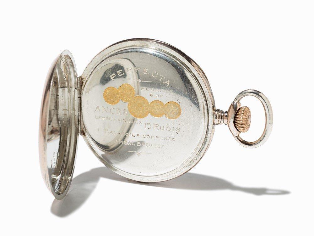 Perfecta Silver Pocket Watch, Switzerland, Around 1900 - 5