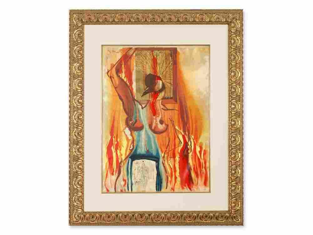 Salvador Dalí (1904-1989), Drypoint, Le Phénix, 1976