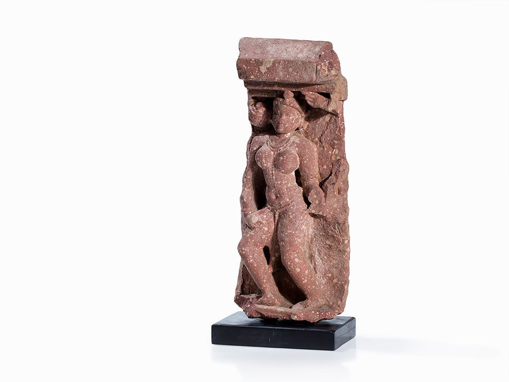 Sandstone Relief Fragment of a Yakshi (Yakshini), 2nd