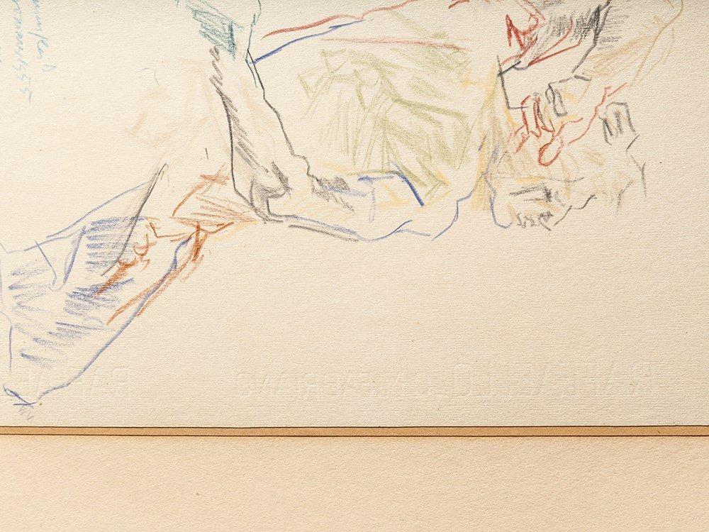 Oskar Kokoschka, Drawing, Back View of a Male Nude, - 8