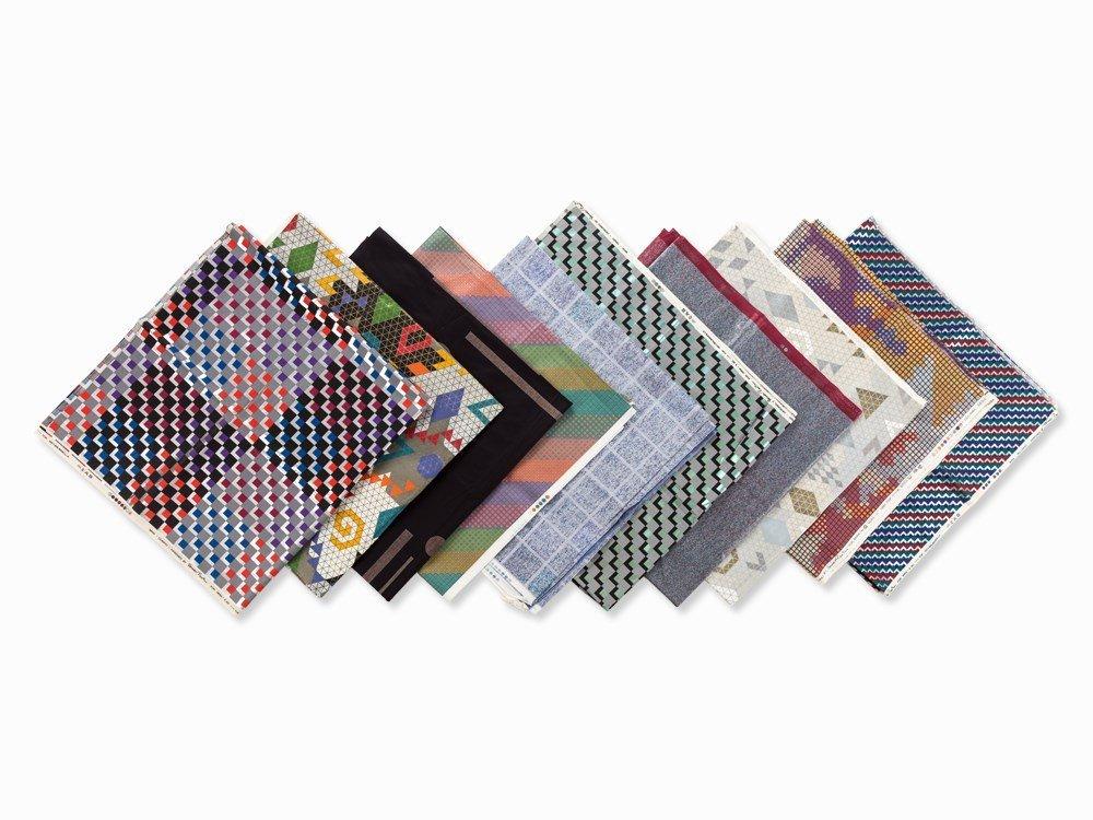 Verner Panton, 10 Sample Fabrics, Mira-X, Switzerland,