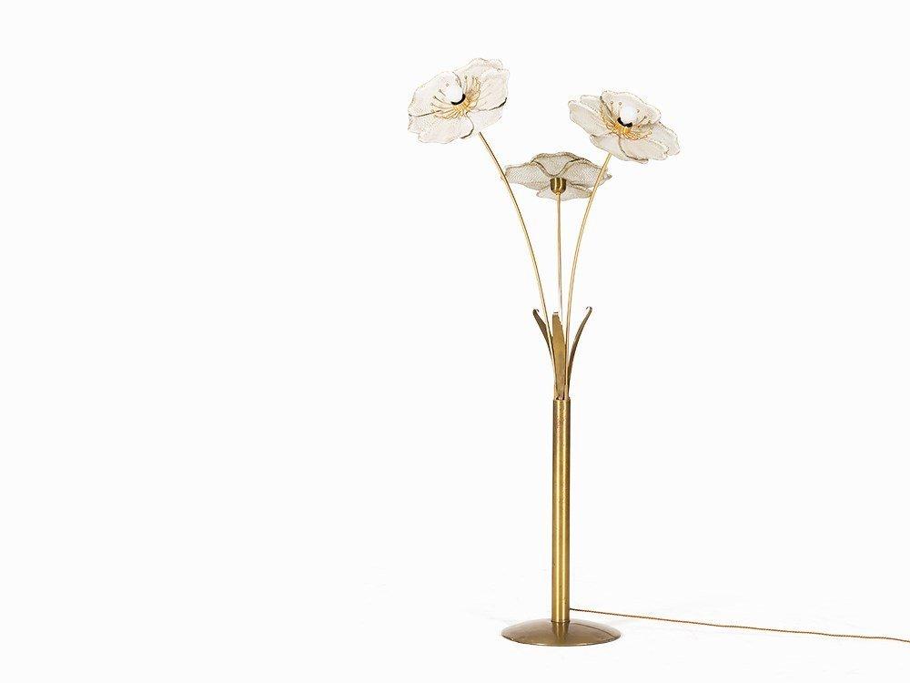 Floor Lamp in Flower-Shape, Italy, c. 1970