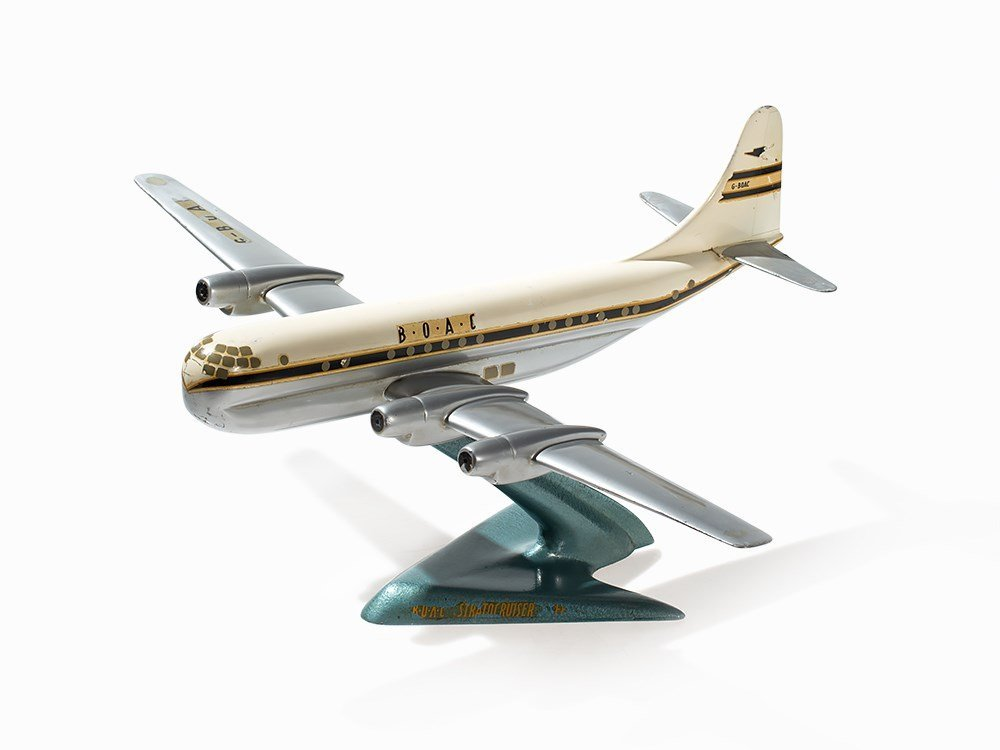 BOAC Airplane Modell Boeing 377 Stratocruiser, c. 1950